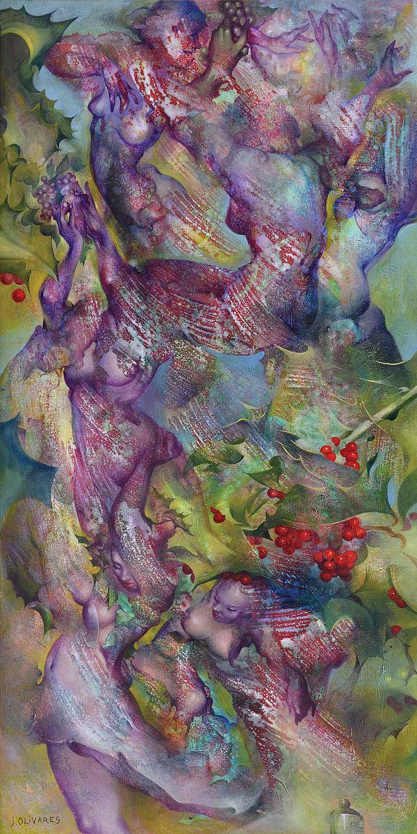 Du houx pour les Saturnales - Peinture de Jaime Olivares
